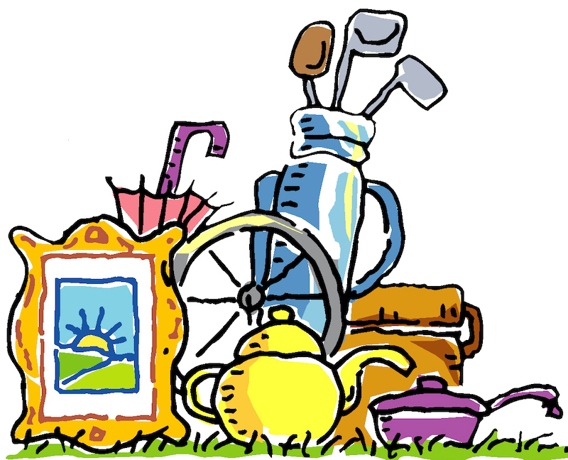 clip art image of house hold items